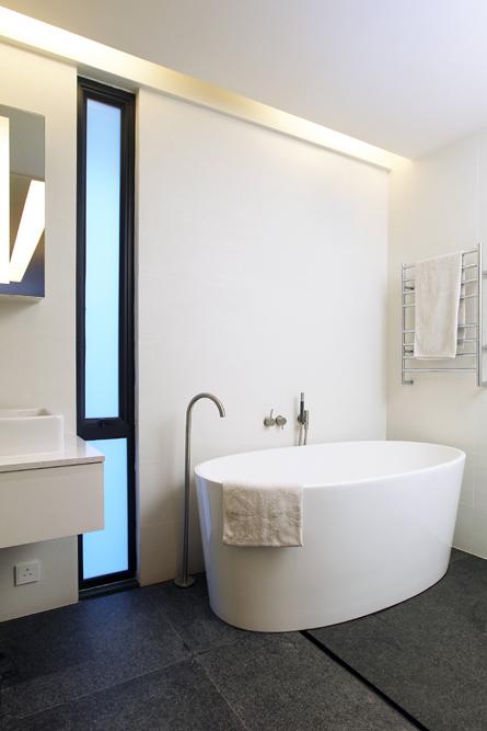 Bathroom The freestanding Victoria and Albert bath HK 50 000 colour living  333 Lockhart Road tel. Pawson Bathroom