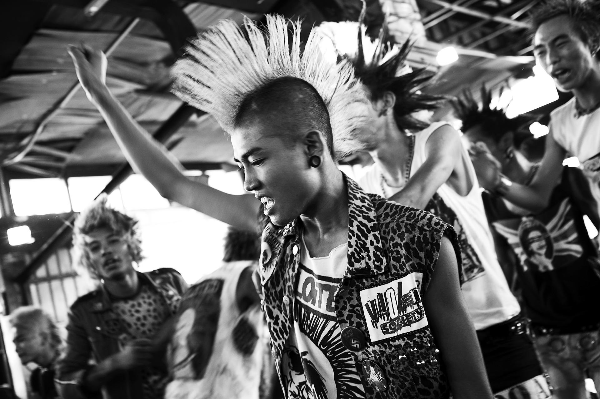 The punk rock movement