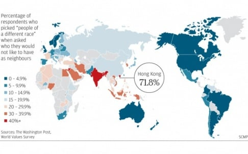 Hong Kong On A World Map.Hong Kong Not So Racist After All As Survey Errors Revealed South