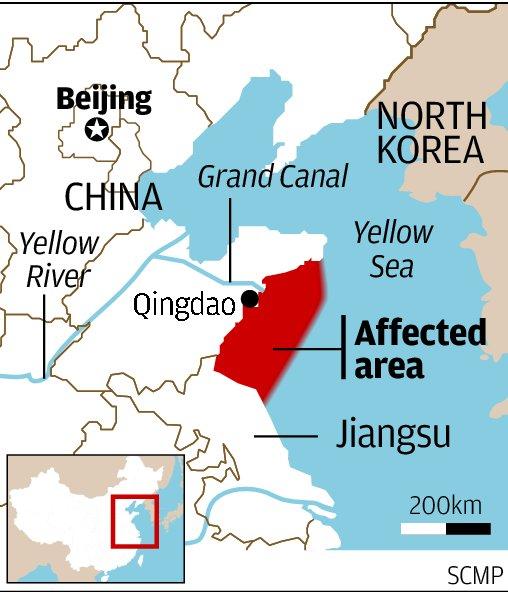 Beijing Subway Map Nang Luo Gu.Seaweed Farming Linked To Qingdao S Green Tide Of Algae South