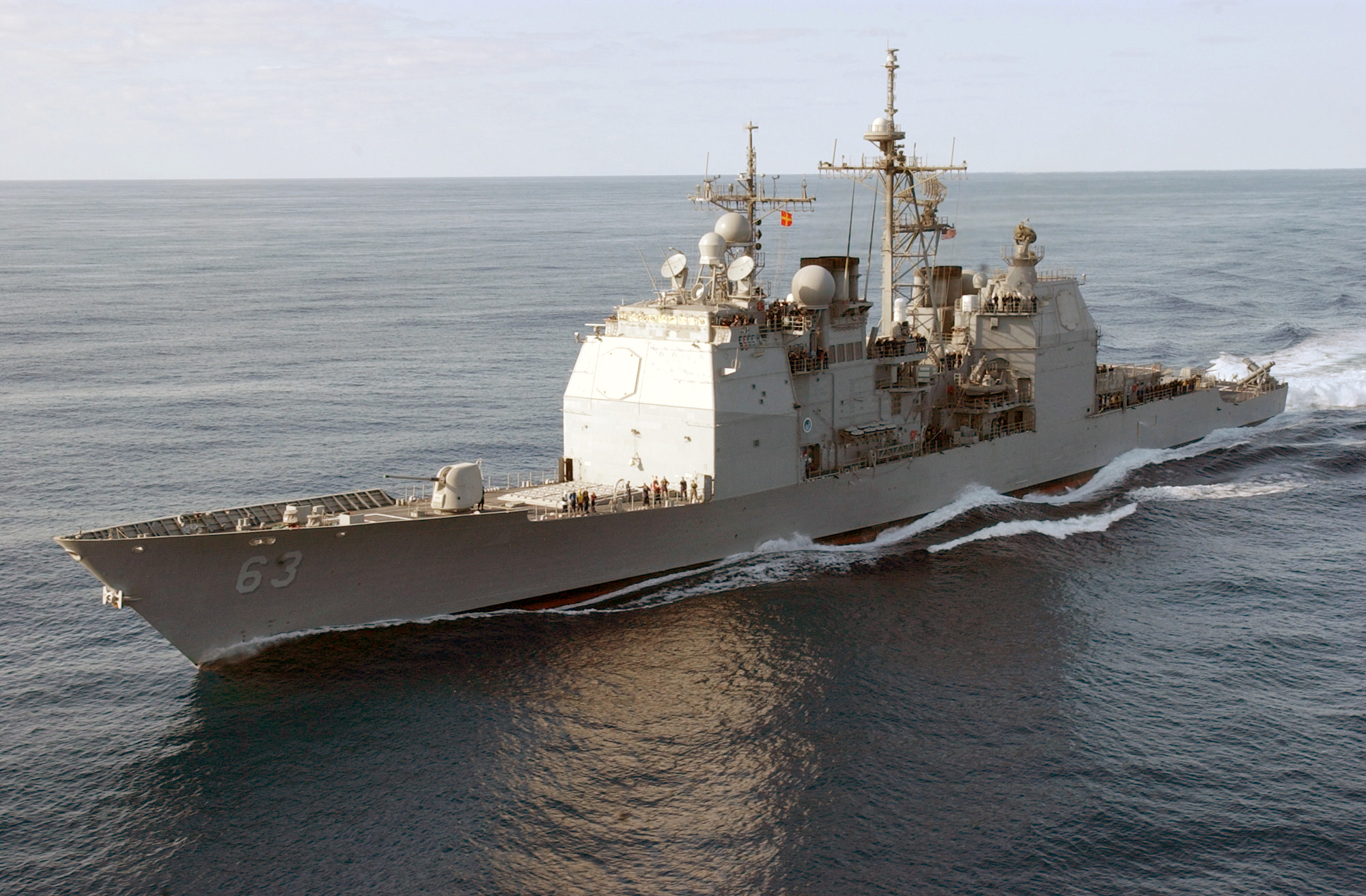 Uss Cowpens In Action