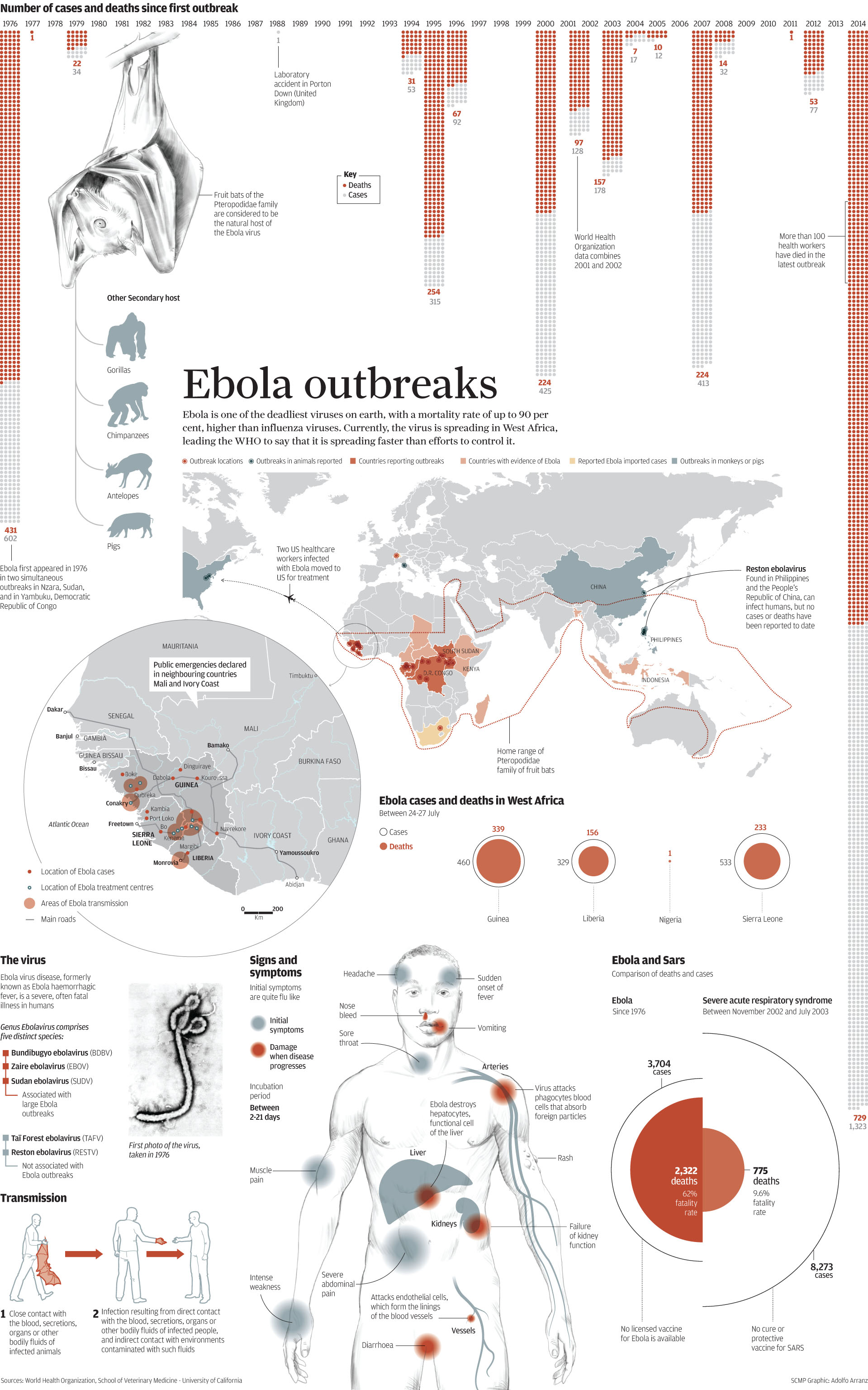 an overview of the outbreak of the ebola virus Why is the study of ebola & marburg a priority for niaid ebola virus was identified when two outbreaks of hemorrhagic fever occurred in overview of r01.