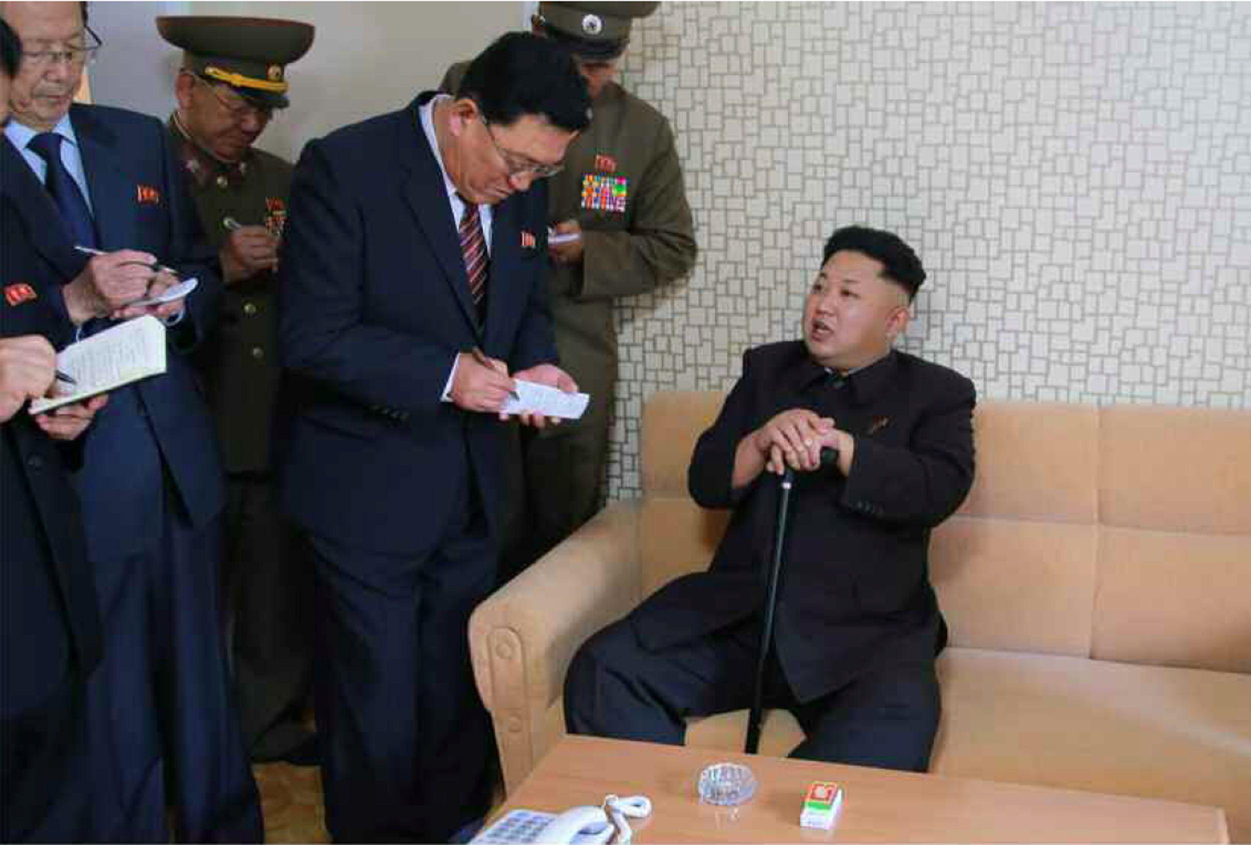 Inje-gun South Korea  city photo : from North Korean paper Rodong Sinmun on October 14, 2014 shows North ...