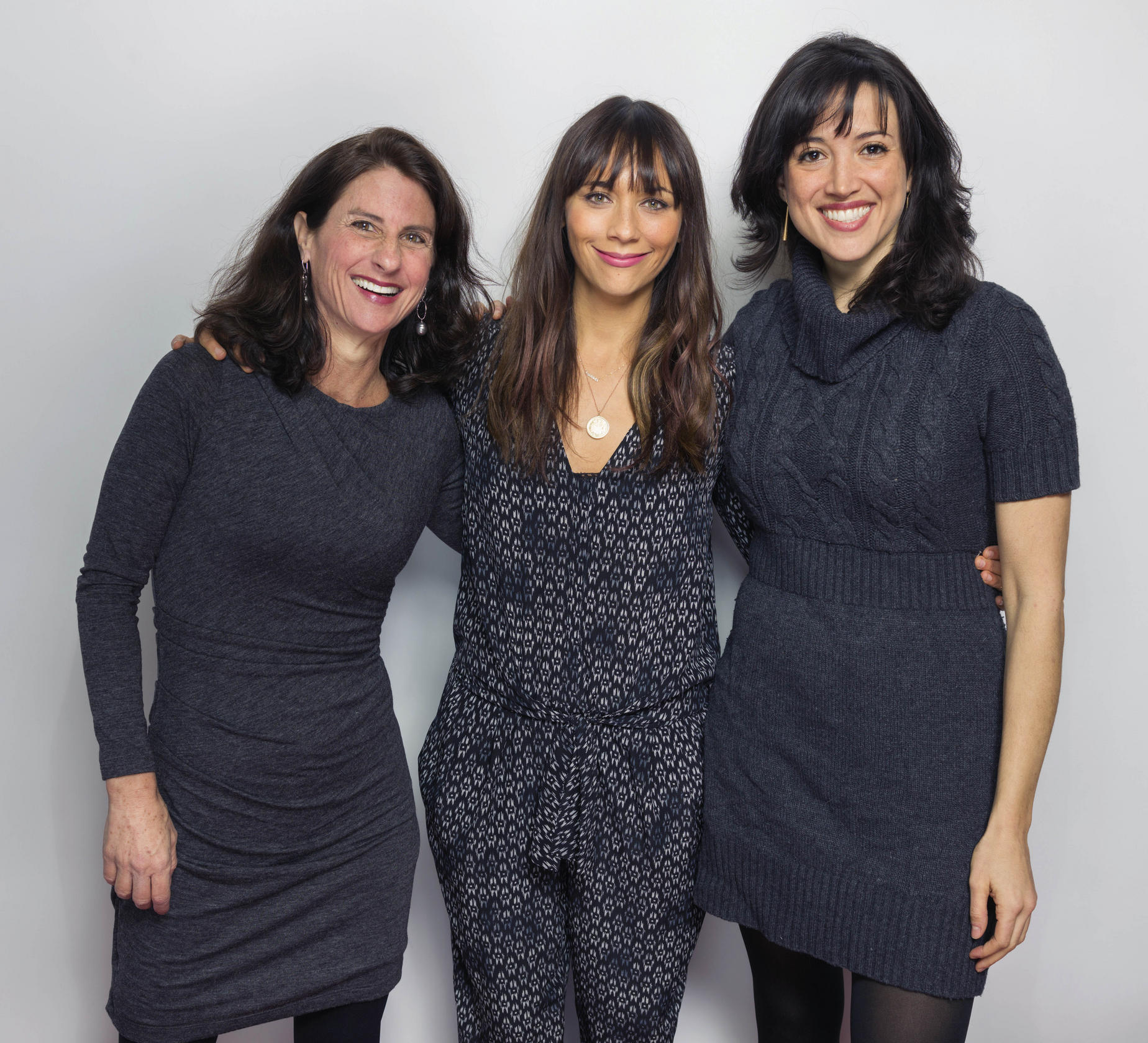 Amateur Pornography - Rashida Jones (centre) and directors Jill Bauer (left) and Ronna Gradus  pose to promote film Hot Girls Wanted. Photo: AP. \