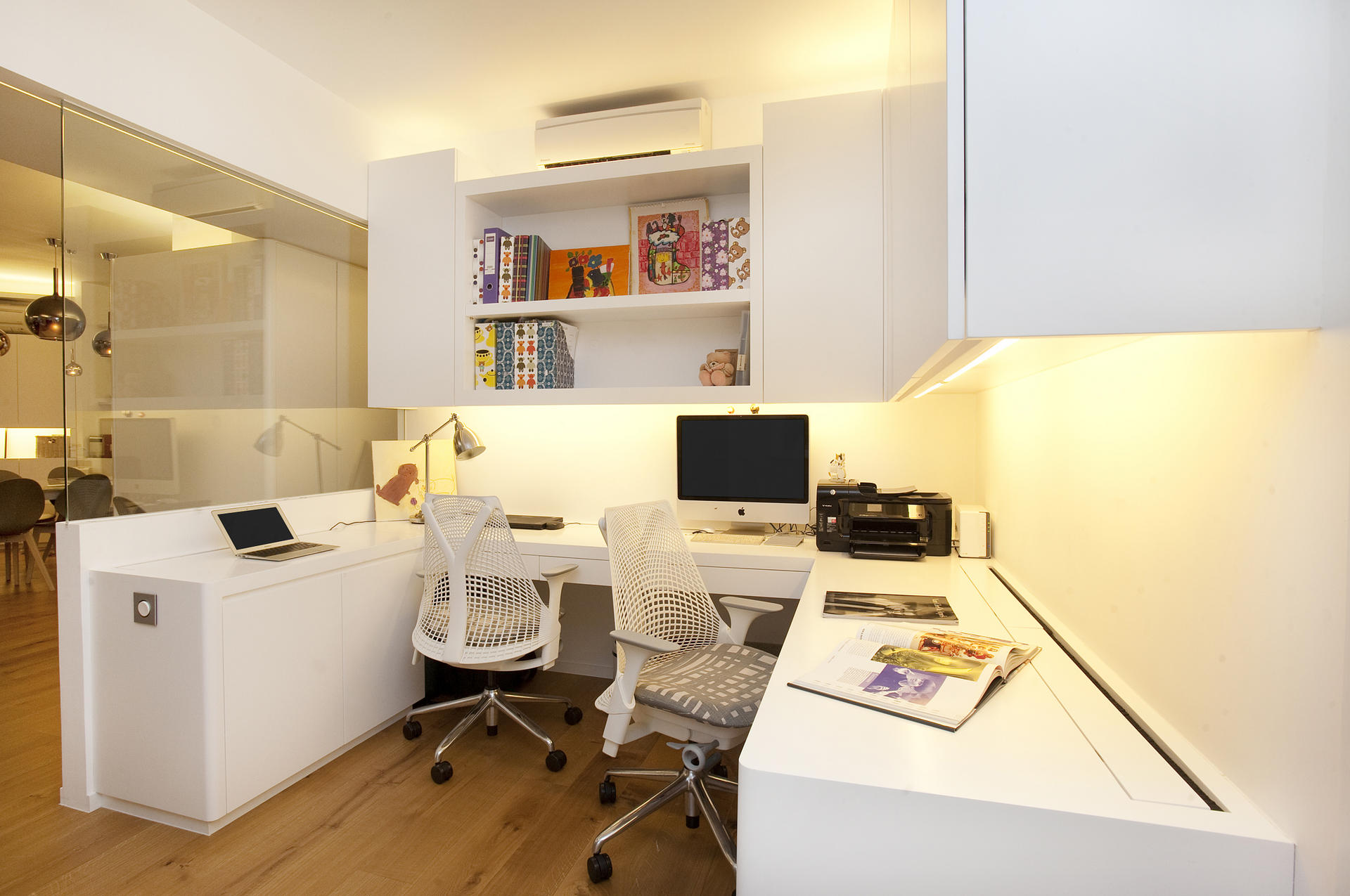 Study The Built In Desk HK32800 Cupboards And Shelves HK35600 Glass Wall Door HK27900 Were Designed Made By Clifton Leung Design