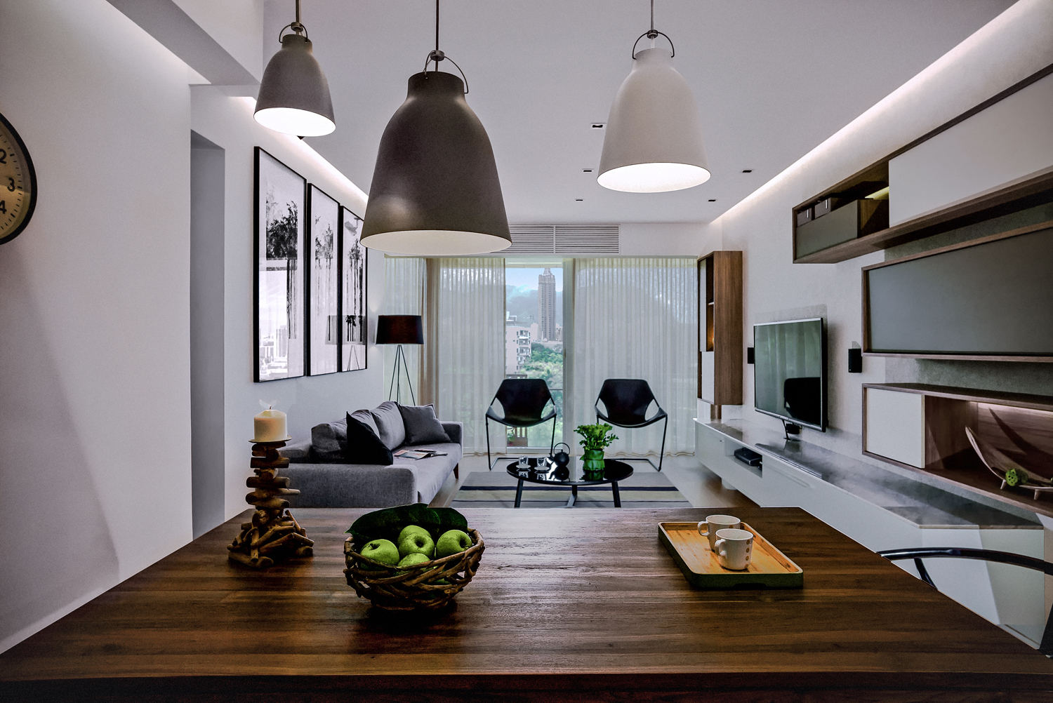 Living Room The Three Caravaggio Pendant Lamps HK2400 To HK6700 Came From Manks 3 F 1 Yip Fat Street Wong Chuk Hang Tel 2522 2115
