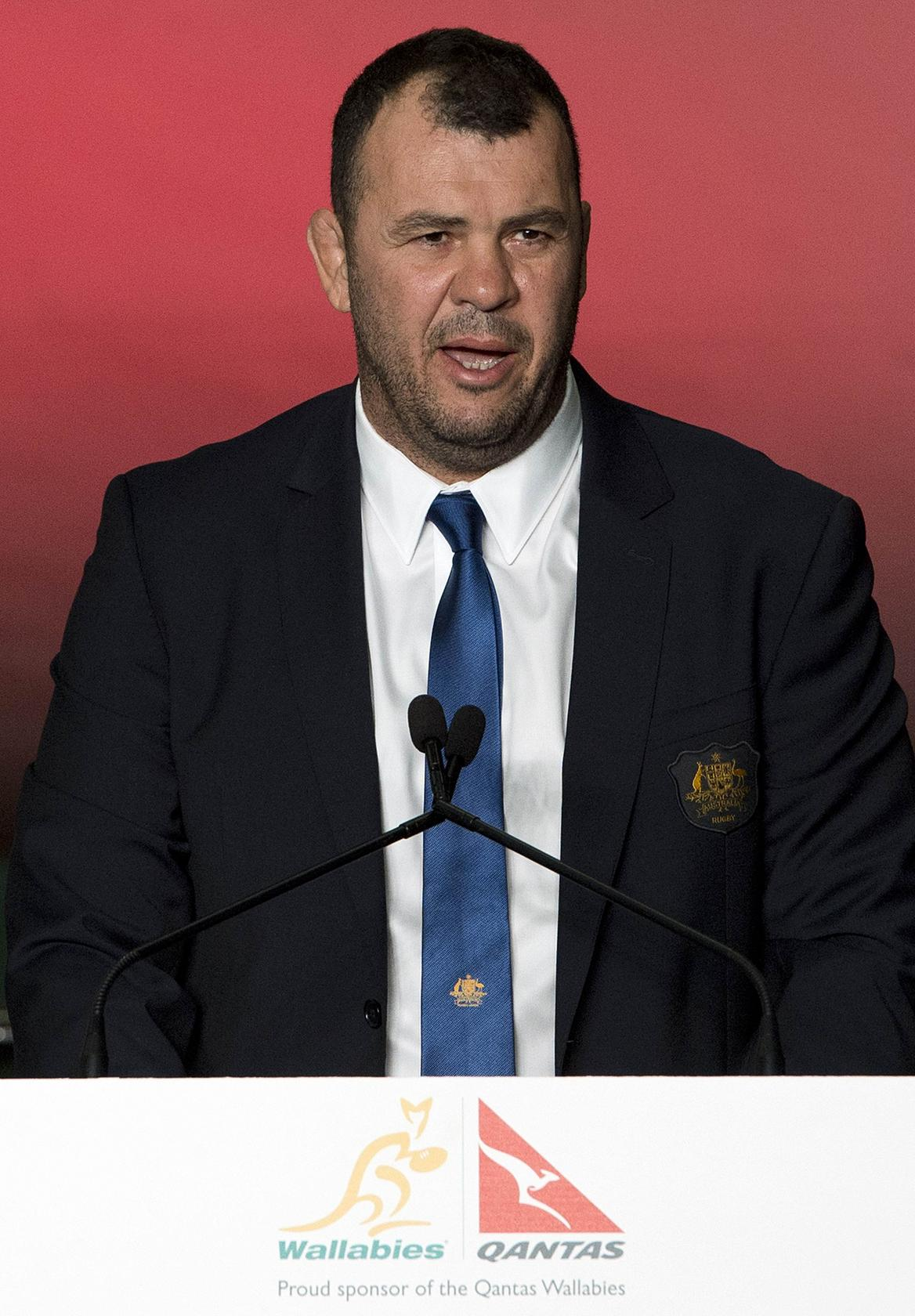 Coach Michael Cheika at the centre of Wallabies revival