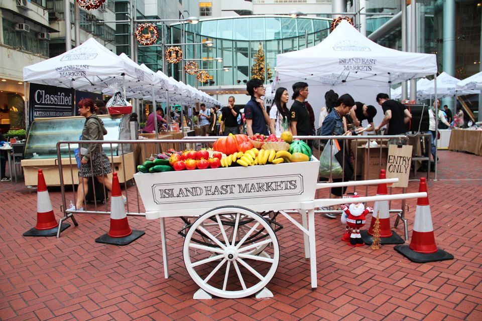 Shop at farmers markets and bring your own bags to help reduce your carbon footprint.