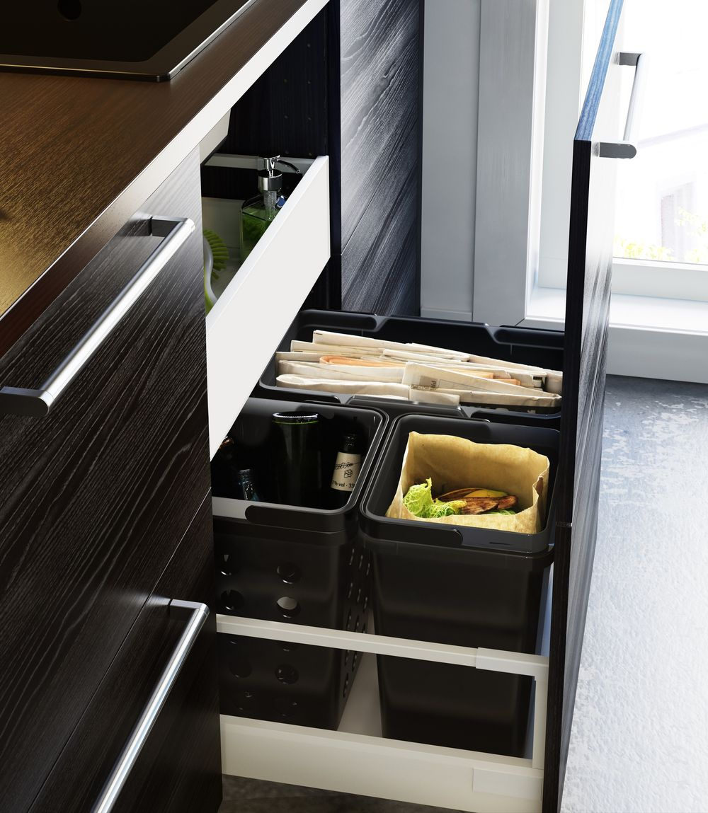 Ikea's new Green Kitchen range helps you to sort your recycling.