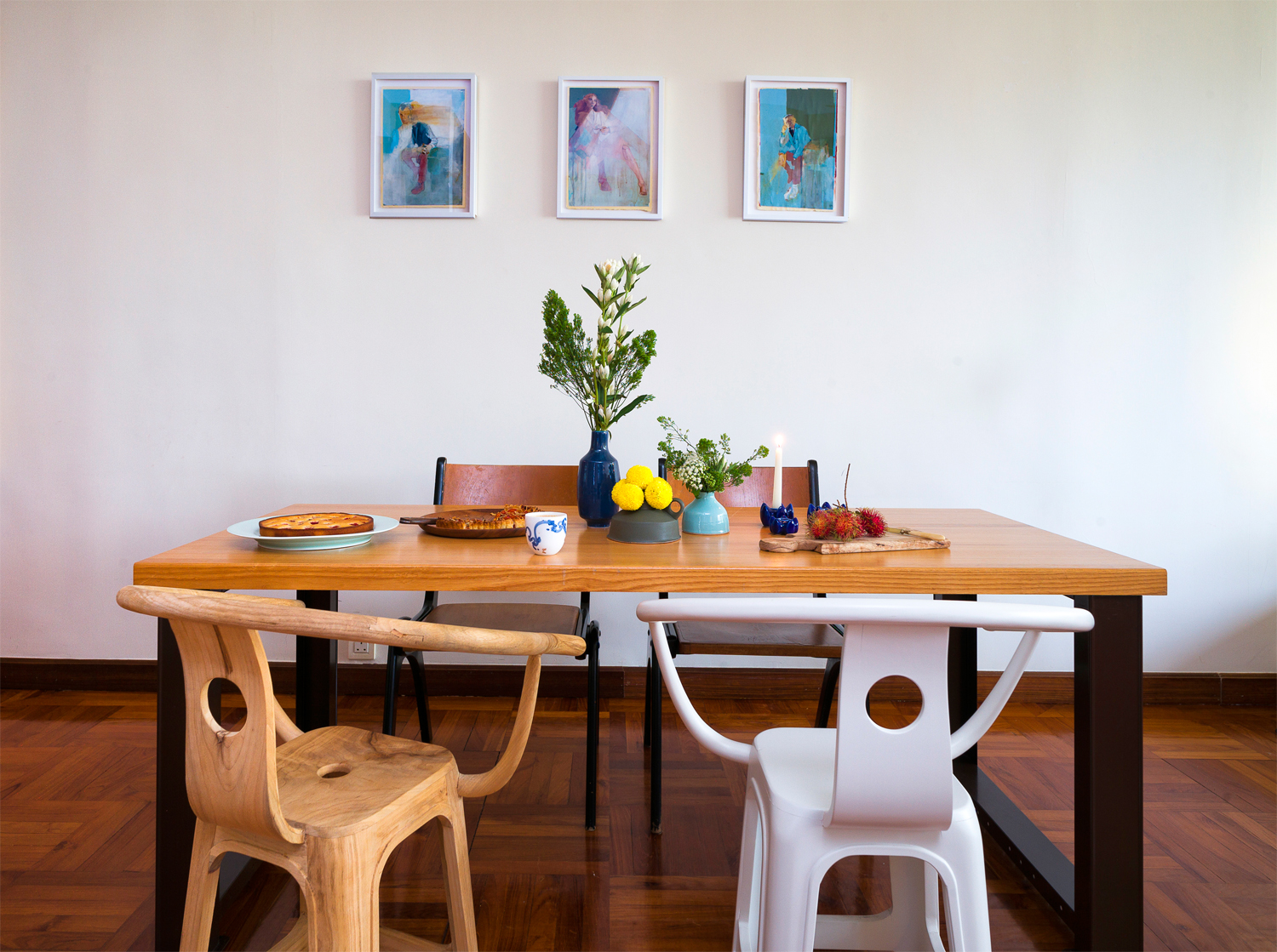 Dining Room The Table Is An Industrial Watchmakers Bench HK10000 From Swiss Brand Lista Distributed By Rainbow Asia Rainbowasiahk