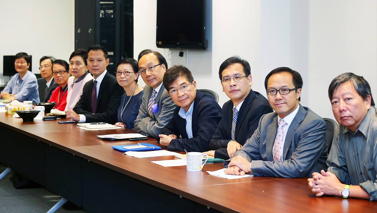 Pan-democrat Lawmakers Wu Chi-wai, Albert Ho Chun-yan, Sin