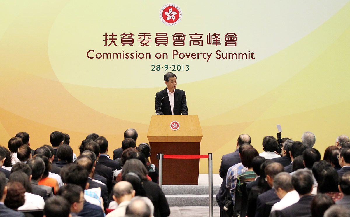 ViewHK           Chief Executive Leung Chun ying chairs the Commission on Poverty Summit to discuss the poverty situation in Hong Kong in