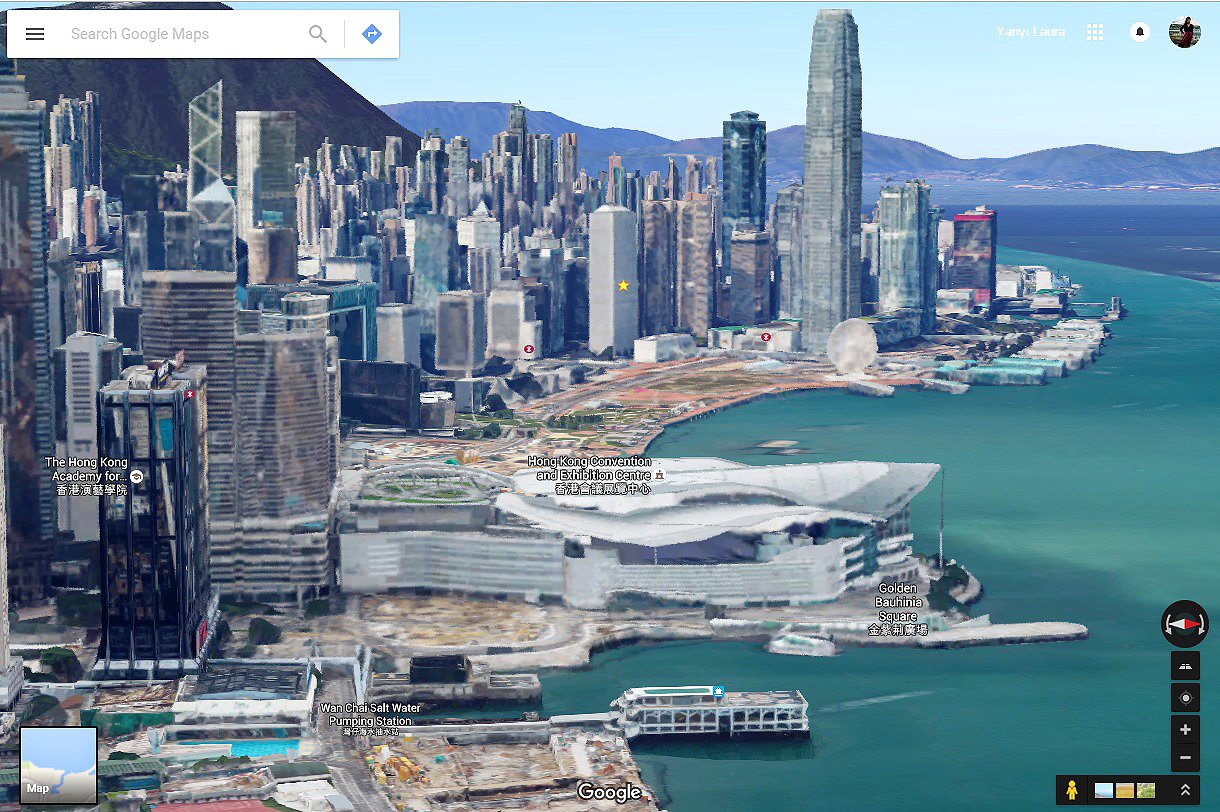 Fly through hong kong no chopper necessary with google maps latest hong kong has been recreated as a virtual reality style fly through space after google maps launched its latest new feature gumiabroncs Image collections