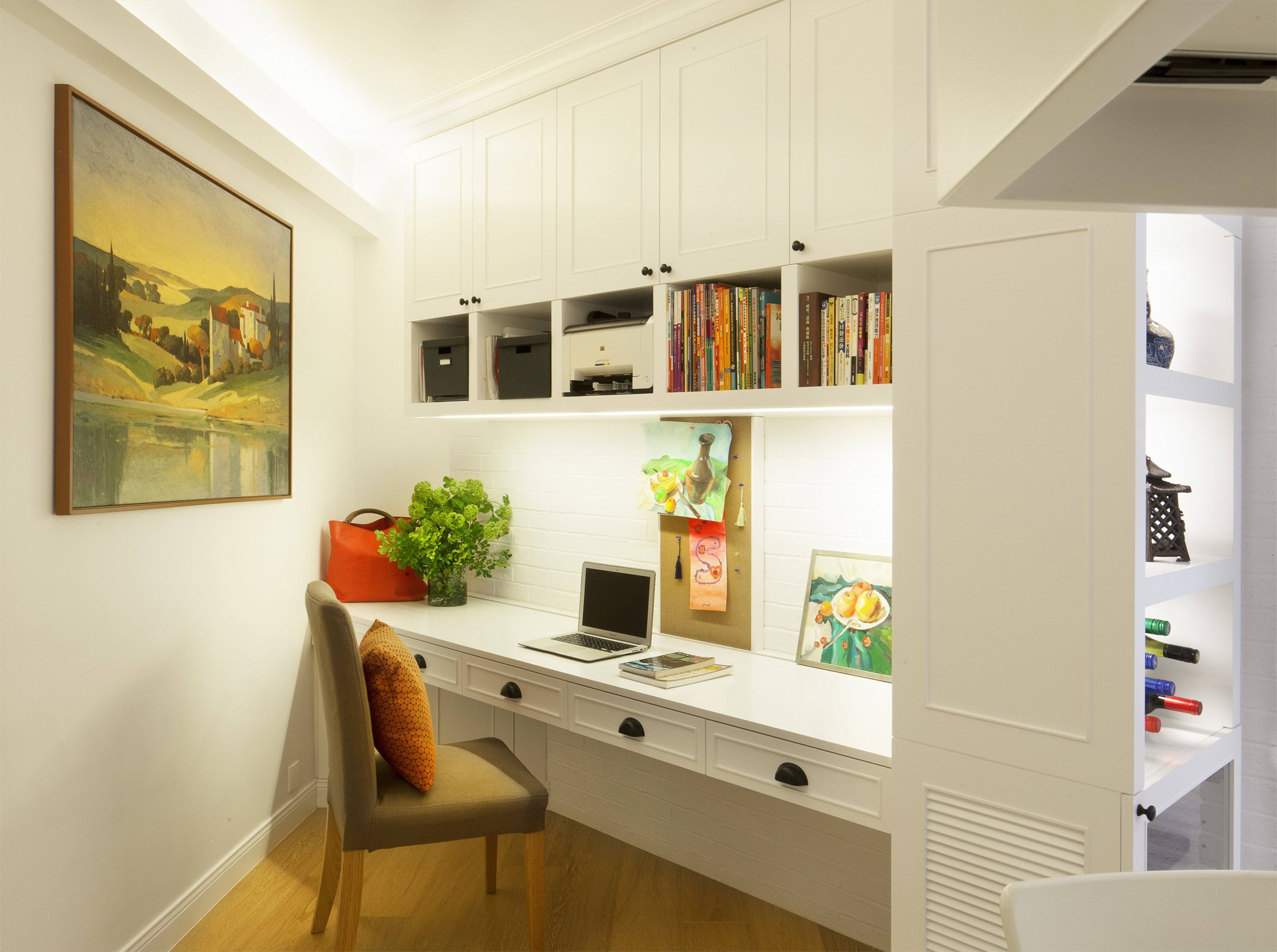 Study The Desk HK17800 Overhead Cupboards HK14600 And Display Case HK11900 Were By CLDW Chair HK990 Artwork Came From Ikea