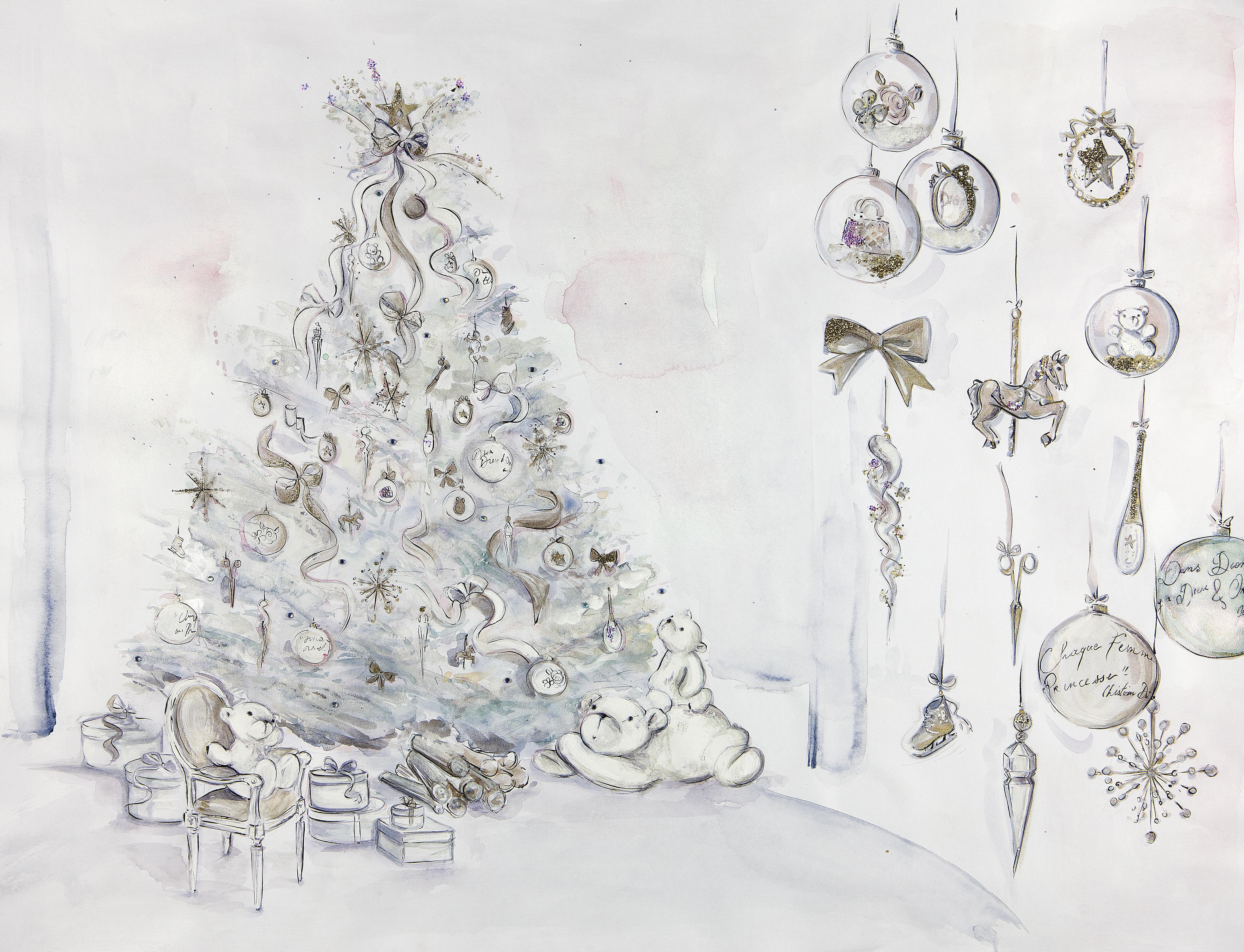 Baby Dior Christmas tree by Cordelia de Castellane graces Paris\'s ...