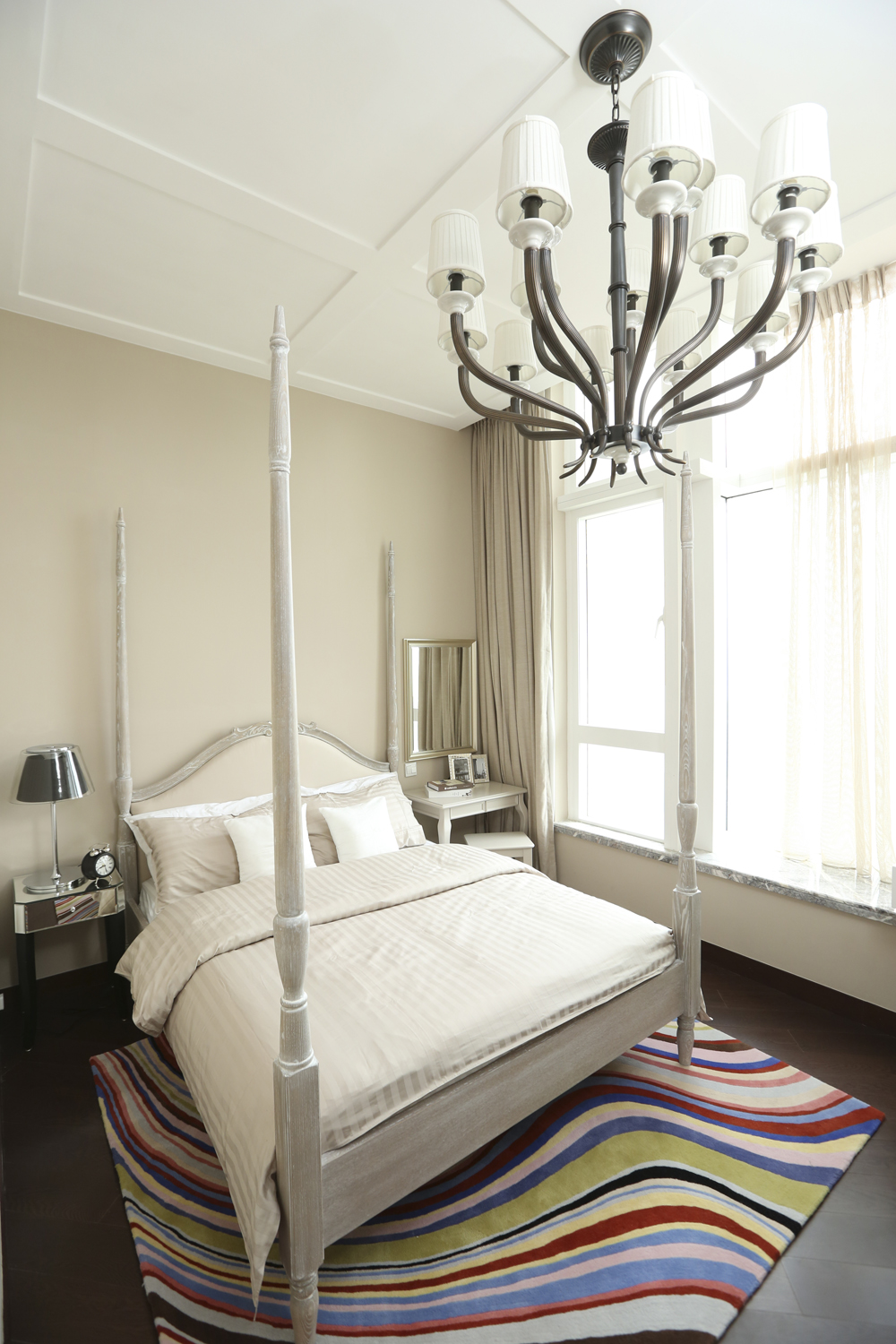 Daughteru0027s Bedroom Chang Gave The Bedroom Its Sense Of Fun With A Swirling,  Stripy Rug And Mismatched Bedside Tables. The Mirrored Table (HK$4,000), ...