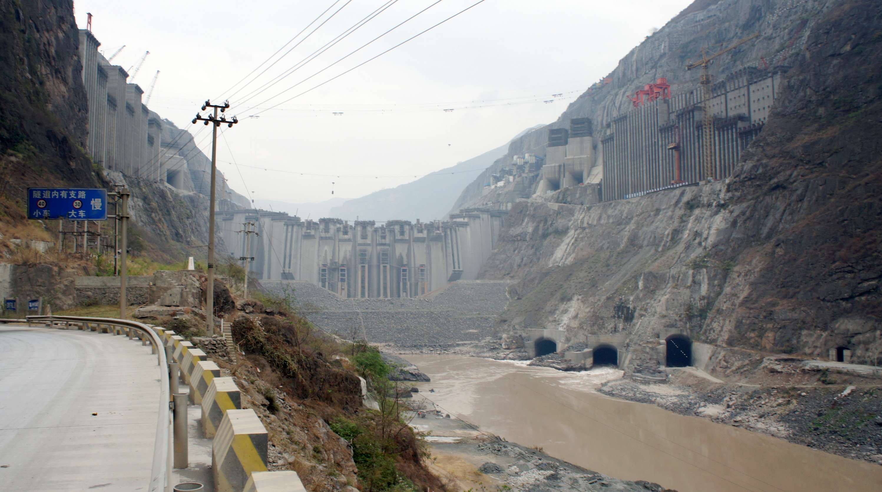 List of major power stations in yunnan - China S Second Largest Dam The Xiluodu Dam Under Construction Along The Jinsha River In Yongshan County Yunnan Near The Border Sichuan In 2012