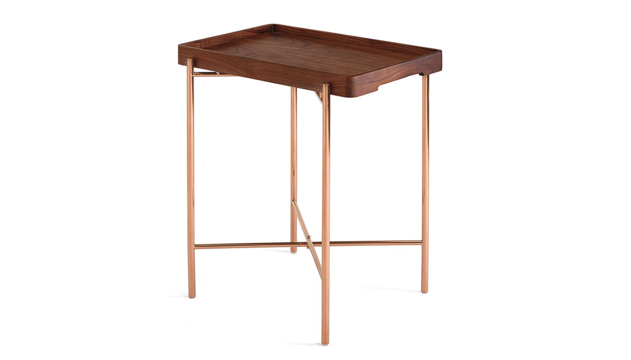 Folding Table In Walnut And Metal Hk 2 475 From Tang