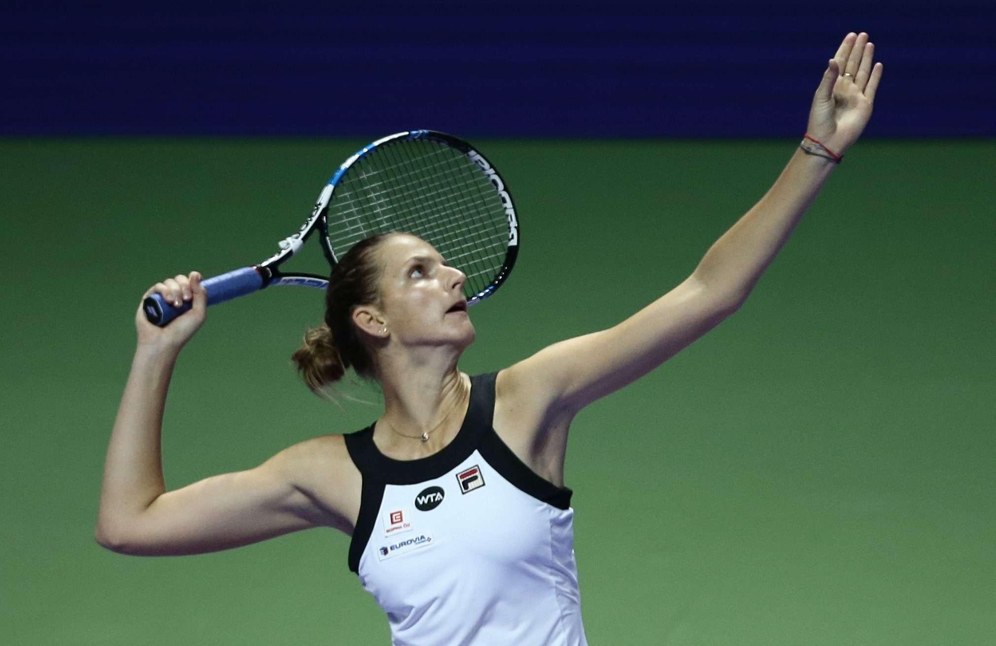 Svetlana Kuznetsova thanks Singapore crowd after beating Karolina