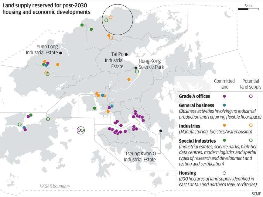 Hong Kong governments plan for new towns and reclaimed islands to