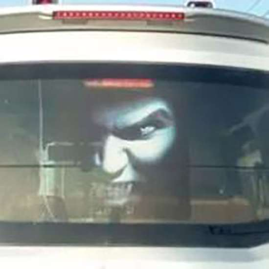 Chinese Drivers Use Ghost Decals To Scare Others Off Using Full - Back window decals for cars