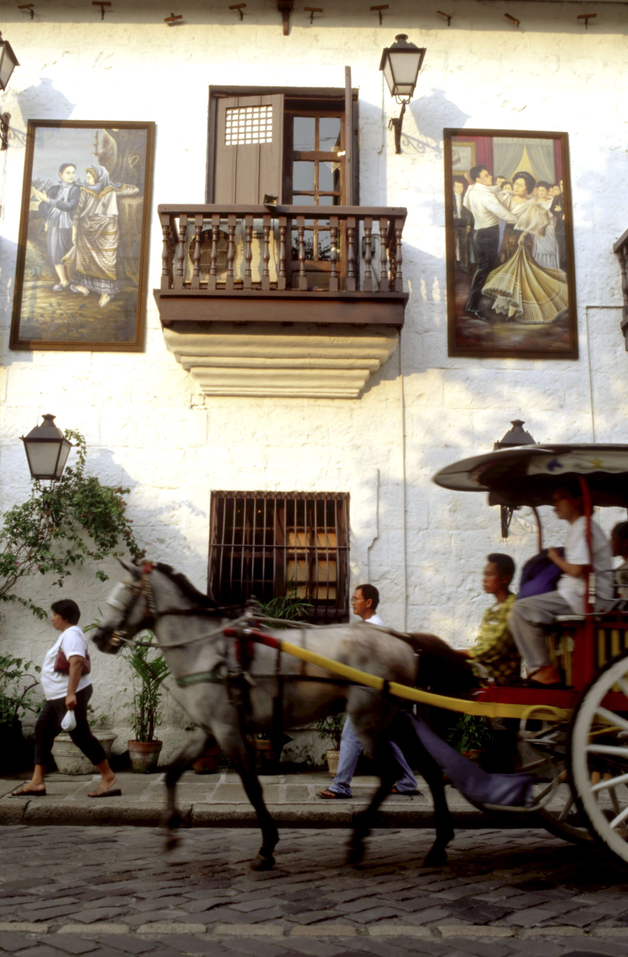 The facade of a restaurant in Manila reflects the early Spanish influence in the Philippines. Photo: AFP