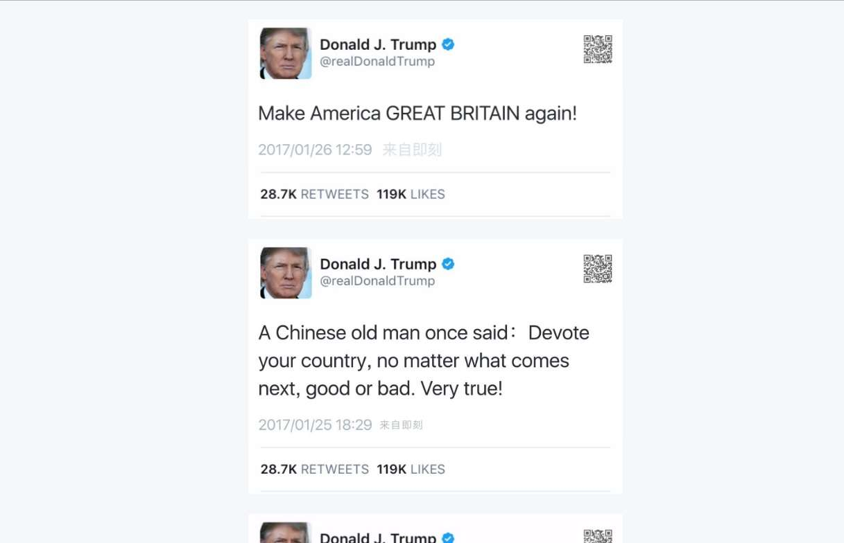 Buy Here Pay Here Ma >> Fake Trump tweets | MCLC Resource Center