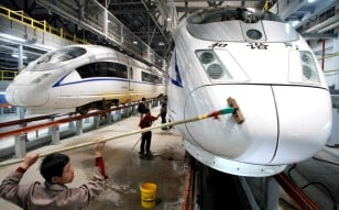 The new entity will have almost 100 per cent of the local market for a broad range of rolling stock, including bullet trains. Photo: Imaginechina