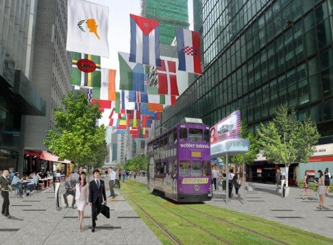 Transform Des Voeux Road Into Pedestrian Tram Green Zone Hong Kong