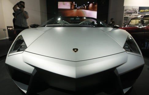 Another Notable Exhibit Is The Jet Fighter Styled Reventon Roadster. Photo:  Felix Wong