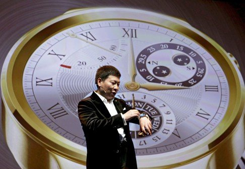 Richard Yu, CEO of Huawei Technologies Consumer Business Group, introduces the firm's smartwatch in March 2015. Photo: EPA