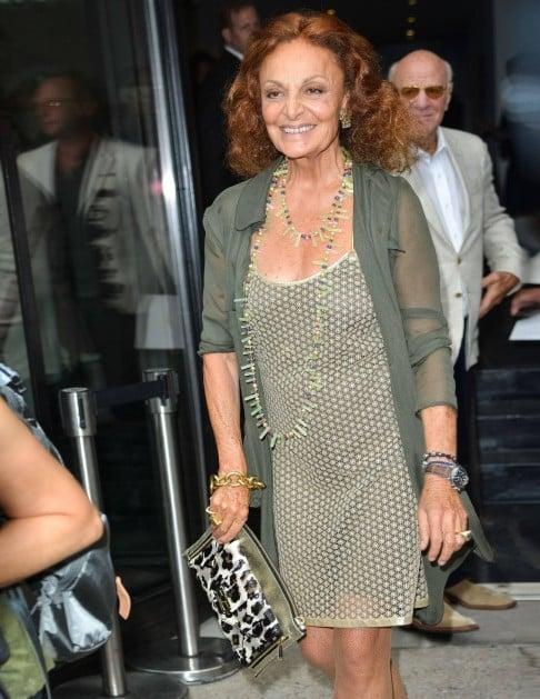 Diane Von Furstenberg and her husband, Barry Diller, attend her fashion  show in New York last month. Photos: Corbis; AFP