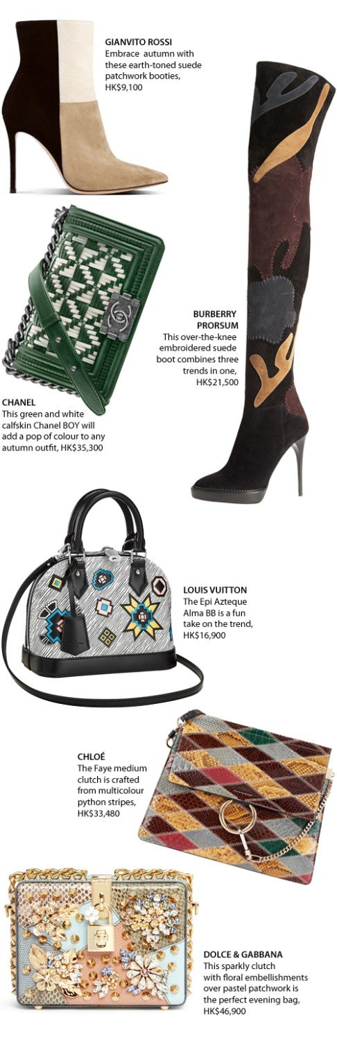 359cb065bdd6 Patchwork accessories are hot this season | South China Morning Post