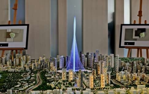 Vowing To Build An Even Taller Tower Than The Burj Khalifa With Rotating Balconies And Elevated Landscaping Inspired By Hanging Gardens Of Babylon