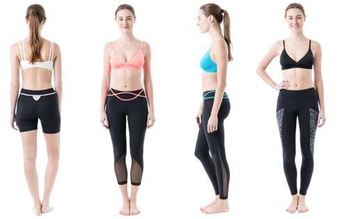 Four styles of Zarie leggings