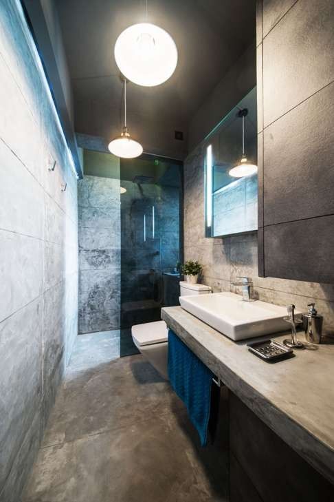 The Concrete Bathroom Occupies The Space Of The Original Kitchen. Part 33