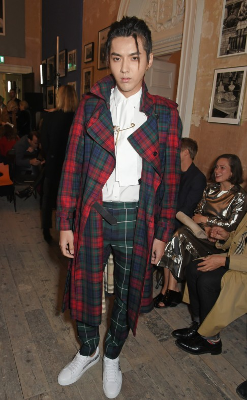 cf40d13c6c70a Kris Wu at Burberry s spring summer 2018 show at London Fashion Week.