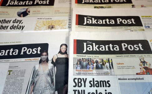 The Jakarta Post's editor chief editor face up to five years in prison. Photo: AFP