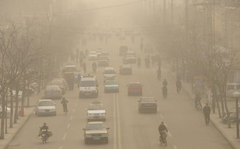 Pollution in Shanxi. Even some typically outspoken experts seem to be refraining from playing up the hype over smog. Photo: AFP