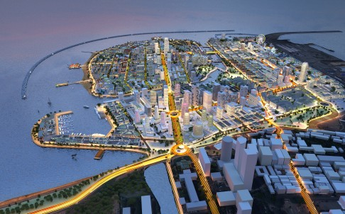 Artist's impression of the proposed Colombo Port City project. Photo: SCMP pictures