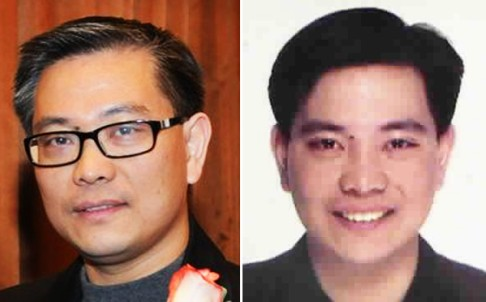 Michael Ching Mo Yeung, pictured in 2011 (left), and as he appears in Interpol's Red Notice under the name Cheng Muyang. Photo: SCMP Picture