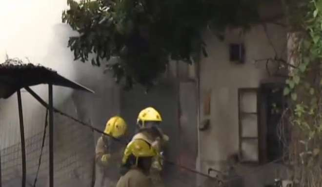 The fire took a little over an hour to extinguish. Image: Cable TV