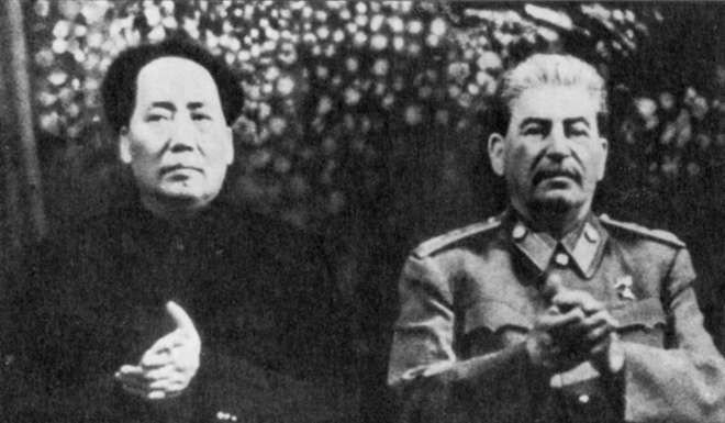 Why public calls for china to rein in north korea risk backfiring chinese president mao zedong with soviet union leader josef stalin circa 1950 file photo thecheapjerseys Choice Image