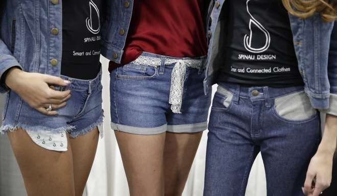 Jeans from Spinali Designs will vibrate on your right or left hip to let you know which direction you should head. Photo: AP