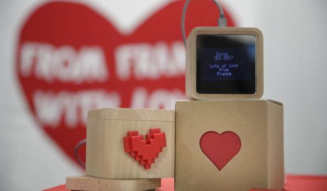 LoveBox devices are designed to receive private messages through an Internet connection. Photo: AP