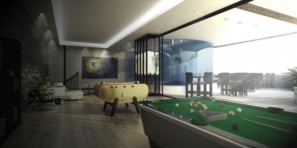 Hk 10 million the ultimate rooftop terrace south china for Indoor game room ideas