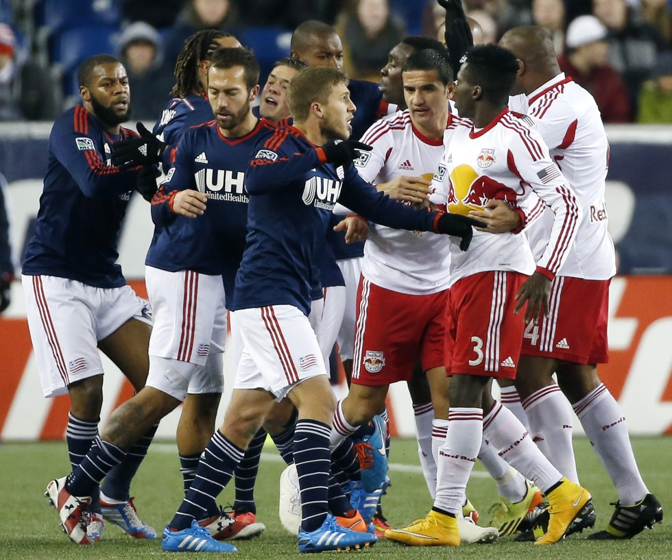 New England Revolution Players Scuffle With York Red Bulls In A Classic Case Of